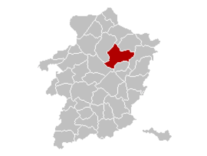 Meeuwen-Gruitrode - Image: Meeuwen Gruitrode Limburg Belgium Map