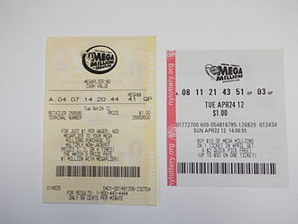 Mega Millions - Mega Millions lottery tickets from New Jersey (left) and New York; see below for rule variations among the game's 46 members, including where the Just the Jackpot option will be offered beginning October 28, 2017