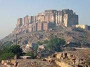 The Mehrangarh Fort in Jodhpur was built by Rao Jodha in 1498.