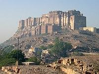 The Mehrangarh Fort in Jodhpur, Rajastan