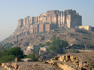 Rajasthan - The Mehrangarh Fort at Jodhpur was built by Rao Jodha in 1459.