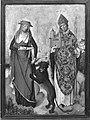 Meister des Marienlebens - Teil eines Flügelaltares, Hll. Hieronymus und Kunibert Rückseite, Verkündigung - WAF 630 - Bavarian State Painting Collections.jpg