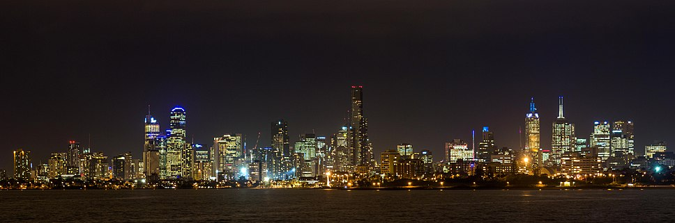 Melbourne Night Skyline (2013)