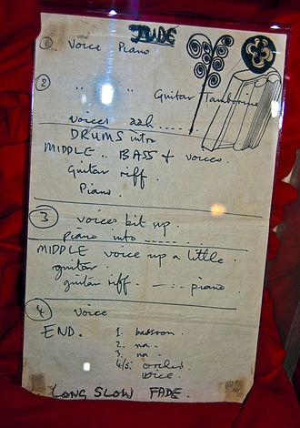 Memo called Paul McCartney's 'Hey Jude' lyrics.jpg