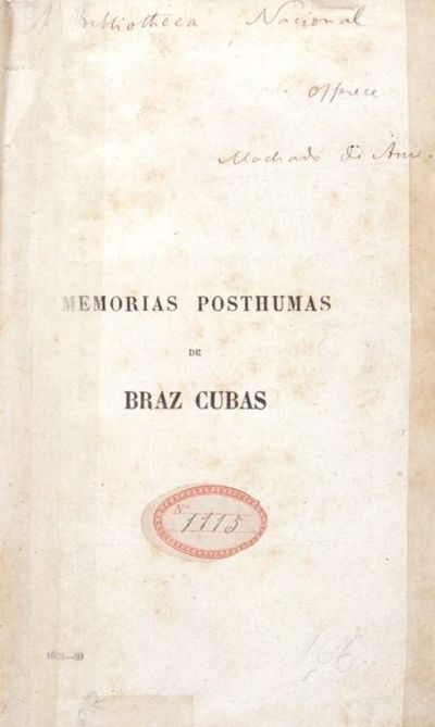 Picture of a book: The Posthumous Memoirs Of Bras Cubas