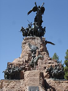Monument dedicated to the Army of the Andes, on the summit of the Cerro de la Gloria.