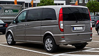 Mercedes-Benz Viano Kompakt CDI 3.0 V6 Ambiente (W 639) – Heckansicht, 1. Juni 2013, Ratingen.jpg