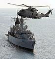 Merlin Flies over HMS Cumberland MOD 45150937.jpg