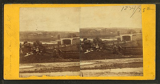 Merrimac River, Concord, N.H, from Robert N. Dennis collection of stereoscopic views