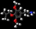 Methallylescaline molecule ball.png