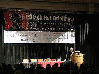 Black Hat Briefings - Michael Lynn presenting a briefing in 2005