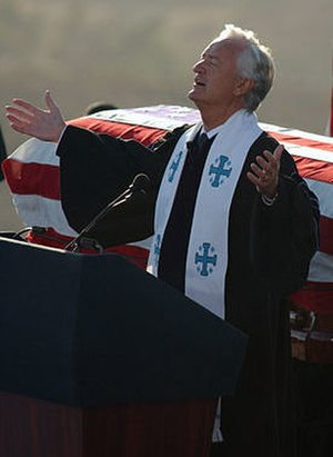 Michael Wenning - Wenning delivering the invocation at the funeral of Ronald Reagan, June 2004