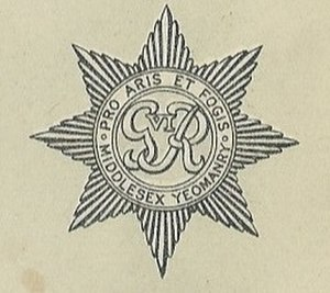Middlesex Yeomanry - Middlesex Yeomanry badge