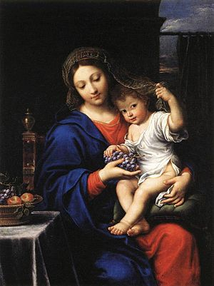 Pierre Mignard - The Virgin with the grapes, 1640