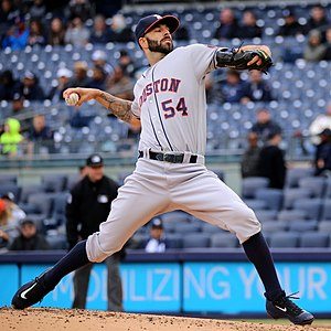 Mike Fiers - Fiers pitching for the Houston Astros in 2016