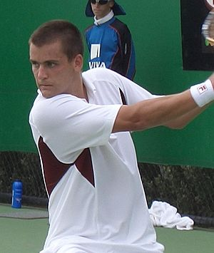 Mikhail Youzhny - Youzhny during one of his matches at the 2006 Australian Open