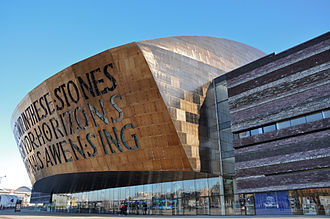 Percy Thomas Partnership - Wales Millennium Centre, Cardiff Bay. Designed by Percy Thomas Partnership. Built 2002–4.