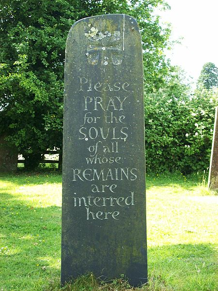 File:Millennium stone, Peasmarsh churchyard.JPG