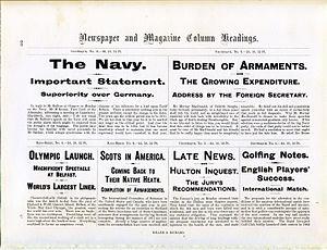 Miller & Richard - Image: Miller & Richard Newspaper type specimen (12509383444)