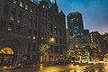 Minneapolis City Hall Sunset Rain (33834244854).jpg