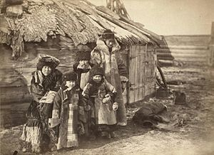 Khakas people - A group of Khakas at Minusinsk