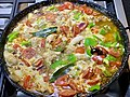 Mixed paella with seafood, chicken and chorizo.jpg