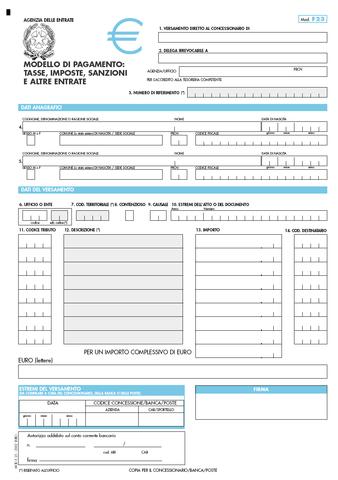 modello f23 pdf