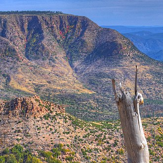 Mogollon Rim - View of Mogollon Rim, east of Pine, Arizona