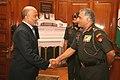 Mohammed Nasser Mohamed Al Rasbi, Defence Secretary of Oman and Head of delegation, calls on the Chief of Army Staff, Gen. V.K. Singh, in New Delhi on September 27, 2011.jpg
