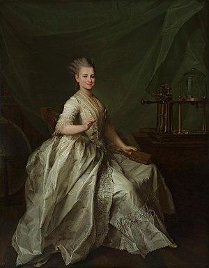 Vacuum pump - Student of Smolny Institute Catherine Molchanova with vacuum pump, by Dmitry Levitzky, 1776