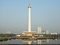 The National Monument is located in the City of Central Jakarta.