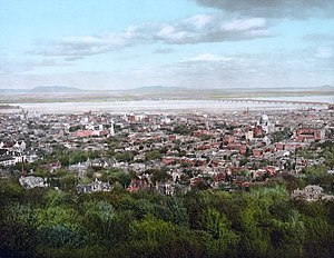 History of Montreal - View from Mount Royal, 1902