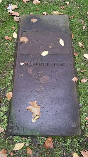 Charlotte Temple - Vault stone in the Trinity Church graveyard, but no one knows if anyone is actually interred in the vault.