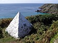 Monument to the cable laid to Brest in 1880, near Porthcurno - geograph.org.uk - 230343.jpg