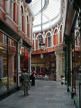 David Morgan (department store) - The Morgan Arcade, which still runs under the former department store