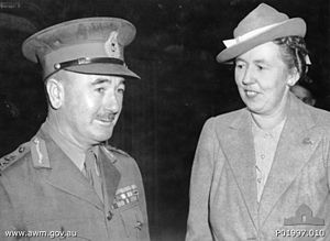 Leslie Morshead - Sir Leslie Morshead with his wife, Lady Morshead, in 1944