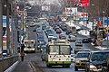 Moscow, southbound city bus 06511 on Sheremetyevsky overpass.jpg
