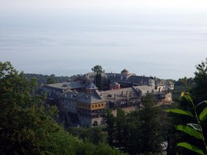Mount Athos- Monastery Filotheou and sea.tif