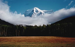 Mount Robson i Kanadensiska Klippiga bjergene, september 1996