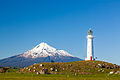 Mount Taranaki and Cape Egmont Lighthouse 01.jpg