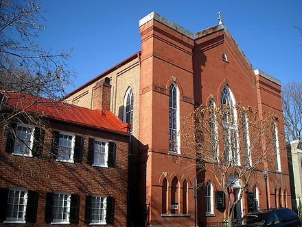 Mount Zion United Methodist Church is the oldest African-American congregation in Washington, D.C. Mount Zion United Methodist Church - facade.JPG