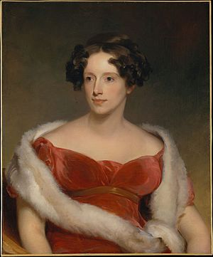 John Biddle (Michigan politician) - Portrait of Biddle's wife, Eliza Falconer Bradish, by Thomas Sully, 1818