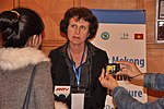 Ms. Lorraine Hariton, Special Representative for Commercial and Business Affairs, U.S. Department of State, answers media questions at the LMI Infrastructure Best Practices Exchange in Hanoi (8379107507).jpg