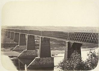 George Washington Whistler - Msta River Howe truss railroad bridge