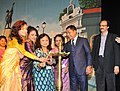 "Mukul Sangma lighting the lamp to inaugurate the ""Focus North East Cinema"", during the 44th International Film Festival of India (IFFI-2013), in Panaji, Goa. The Director, International Film Festival of India (IFFI).jpg"