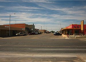 Muleshoe, Texas - Main Street in downtown Muleshoe