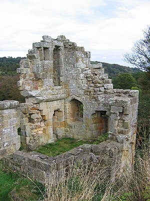 English: Mulgrave Castle. Castle ruins situate...