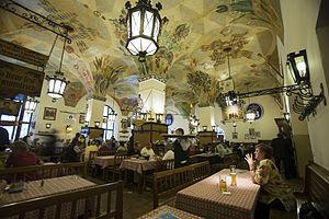 Beer hall - Hofbräuhaus am Platzl beer hall in Munich, Germany