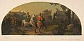 Mural design picturing riders in a landscape for a lunette in the library of the Chateau de Lude (Sarthe) MET DP811582.jpg