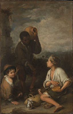 Murillo, Bartolomé Estéban - Three Boys - Google Art Project